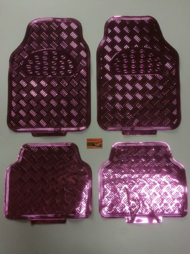 UNIVERSAL CAR MATS PINK STYLE CHECKER PLATE